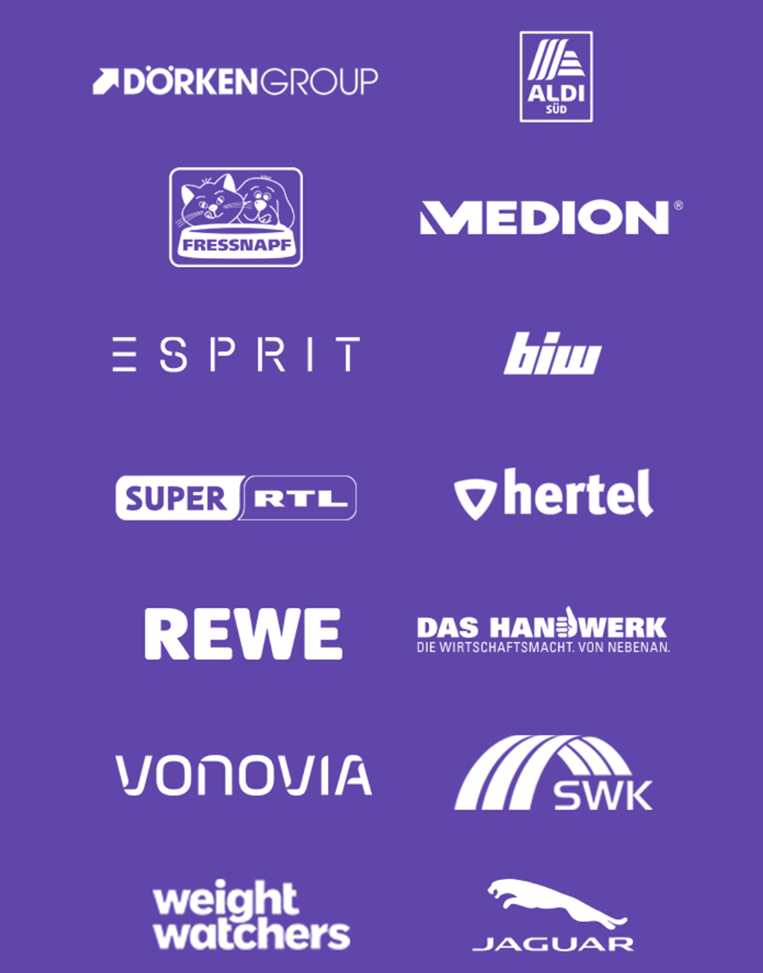 Kunden mit Logos die die Videoproduktion nutzen